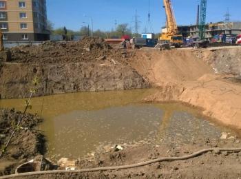 Откачка воды в Кольчугино